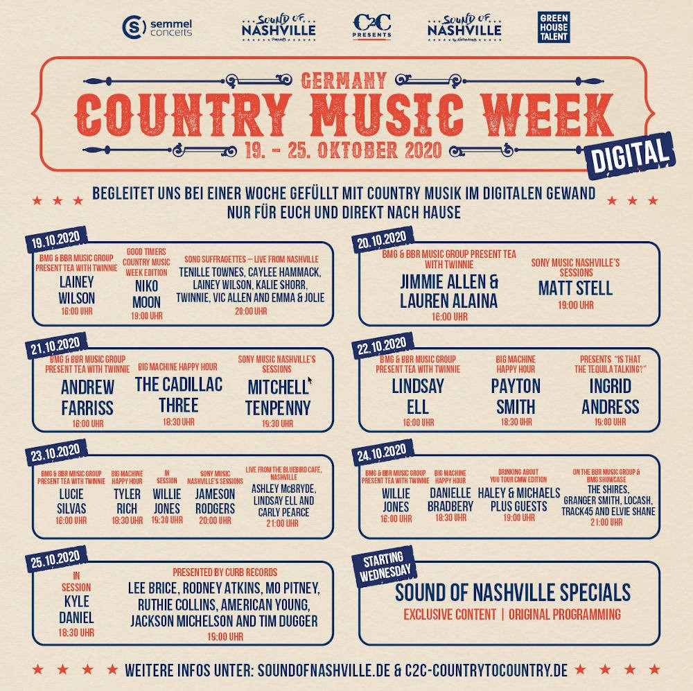 digital Country Music Week 2020